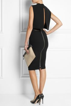 Victoria Beckham Cutout crepe dress