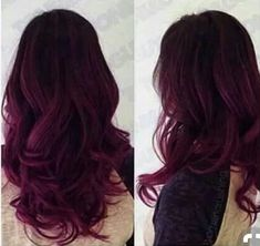 Red Purple Ombre Hair Color Idea for dark hair,new choice of dye purple hair, dark purple hair. Red Purple Ombre Hair Color Idea for dark hair,new choice of dye purple hair, dark purple hair. Dark Purple Hair, Hair Color Purple, Hair Color And Cut, Purple Ombre, Magenta Hair, Color Red, Burgundy Hair Ombre, Burgundy Balayage, Violet Ombre
