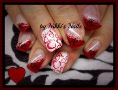 Valentines 2 by nikkisnails - Nail Art Gallery nailartgallery.nailsmag.com by Nails Magazine www.nailsmag.com #nailart