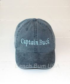742a59bec6e Captain Hat Adams Baseball Cap Custom Quote Embroidered Hat