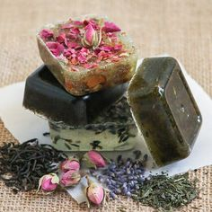 DIY Tea Soap | Thirsty for Tea so many ideas come to mind for this: earl grey, rosehips, lavendar, chammomile, black tea honey and lemon... argh CP, M, FSS, WSS, AB, ED, SP