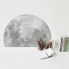 A Trip To The Moon /sticker full moon by i3Lab on Etsy