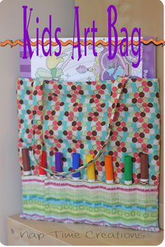 kids art bag - perfect for a coloring book and markers. Get crafty!