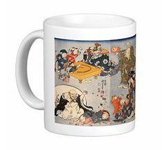 縁起が良く、福を呼ぶ!『 七福神 』のマグカップ:フォトマグ(浮世絵シリーズ) 熱帯スタジオ http://www.amazon.co.jp/dp/B012F2UHKS/ref=cm_sw_r_pi_dp_E-mTvb1AVA42W
