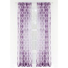 Style Selections Jareth L Light Filtering Kids Purple Rod Pocket Window Sheer Curtain Window Sheers, Sheer Curtains, Blackout Curtains, Panel Curtains, Crystal Curtains, L And Light, Light Filter, Pocket Light, Sheer Material