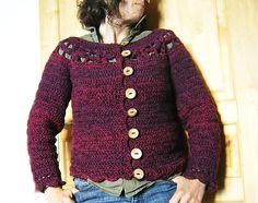 Ravelry: Floralie Cardigan pattern by Sylvie Damey