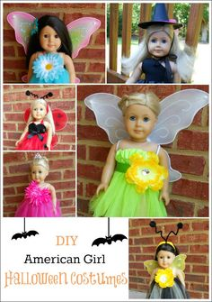 These are 13 simple DIY AG Doll Crafts for Halloween! Cute and Easy ideas for accessories, clothes and costumes. Perfect Halloween crafts for our American Girl Dolls this year. American Girl Outfits, American Girl Crafts, American Doll Clothes, American Dolls, American Girl Halloween, Halloween Costumes For Girls, Easy Halloween, Girl Costumes, Halloween Crafts