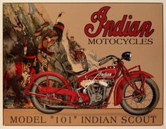 Vintage Indian Scout Poster