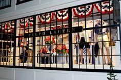4th of July window in Nantucket