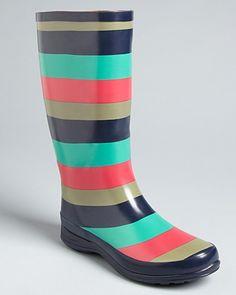 Splendid Striped Rubber Rain Boots - Raindrop | Bloomingdale's