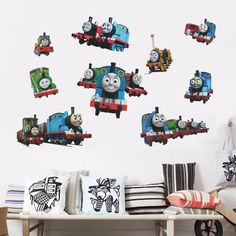 $3.79 with free shipping - Thomas And Friends Train Removable Wall Sticker Decals Decor kids Nursery Mural   Home & Garden, Home Décor, Decals, Stickers & Vinyl Art   eBay!