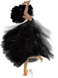 She dances
