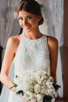 Simple Wedding Bouquets, Wedding Dresses, Wedding Bells, Wedding Day, Bride Hairstyles, Strand, Bridal Style, One Shoulder Wedding Dress, Wedding Planning