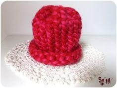 Atelier de sofil : Bonnet au tricotin géant