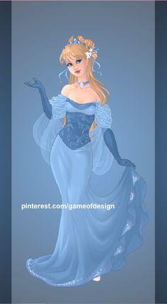 Queen Ella (Cinderella), made on Azalea's Goddess Maker. Princesses to Queens Disney Princess Cinderella, Anime Princess, Princess Anna, Childhood Characters, Female Characters, Disney Characters, Disney And Dreamworks, Disney Pixar, Fantasy Clothes