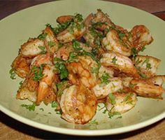 low fat prawn dish