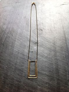 Gold Geometric Art Deco Hammered Double by LoopHandmadeJewelry