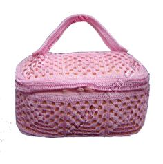 Such a great useful idea! A crochet vanity case made out of a few simple granny squares! - with charts and layout!