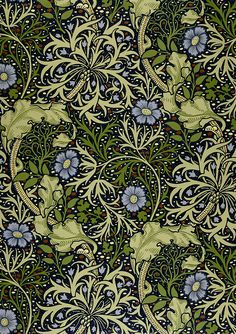 Seaweed: designed by John Henry Dearle for William Morris 1901