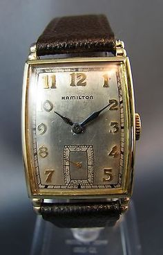 Vintage-Hamilton-Art-Deco-10k-Gold-GF-Mens-Dress-Watch-980-17J-Hand-WInd-1940