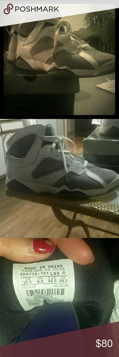 Authentic Air Jordan 7 Retro Authentic Air Jordan 7 Retro 2007 sneakers, fair condition with scuffs on back heels and front. Original box is worn Nike Air Jordan  Shoes Sneakers