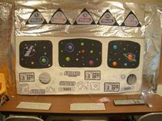 Decorating idea for Blast Off VBS. Control Panel.