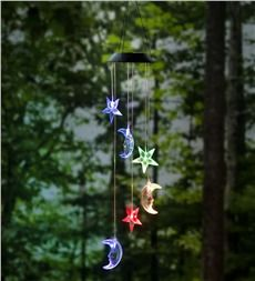 Color-Changing Stars and Moons Solar Mobile