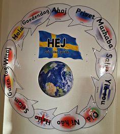 Min blogg om allt mellan himmel och jord: Hej på olika språk till förskolan