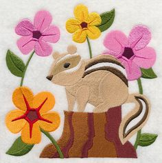 Chipmunk in Blossoms