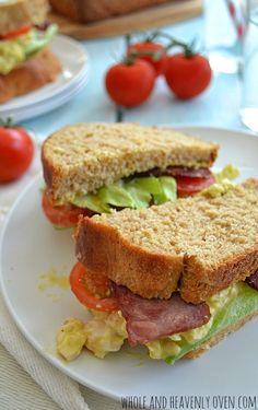 BLT Egg Salad Sandwiches | wholeandheavenlyoven.com