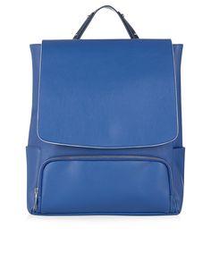 Clean PU Backpack | Blue | Accessorize