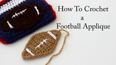 How To Crochet a Football Applique. In this tutorial I will show you how to crochet a football appliqué that is great for lots of projects including diaper covers, blankets, hats, bags, and so many others! Thanks for watching and for subscribing! Spiral Crochet Pattern, Crochet Applique Patterns Free, Crochet Baby Blanket Free Pattern, Crochet Cozy, Crochet Kids Hats, Form Crochet, Crochet Motif, Crochet Blankets, Crochet Men