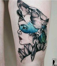 Gorgouse native american tattoo