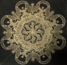 Tanglicious ~ Black Chakra by EveningCreeper on Etsy