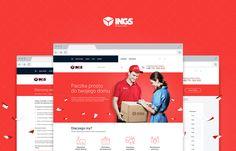 """다음 @Behance 프로젝트 확인: """"INGS - courier services"""" https://www.behance.net/gallery/32729021/INGS-courier-services"""