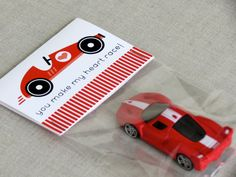 You Make My Heart Race ~ matchbox car Valentine ~ diy non candy Valentine ❤️