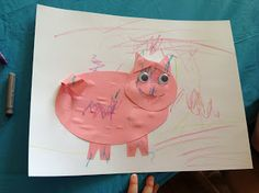 momstown Monet: Shape Pigs | momstown Central Alberta Farm Animal Crafts, Farm Crafts, Farm Animals, Book Activities, Monet, Pigs, Shapes, Art, Art Background