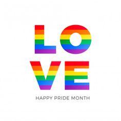 Love word with gay pride flag Gay Pride, Pride Flag, Love Words, Peace And Love, Geek Stuff, Symbols, Letters, Vector Freepik, Rainbows