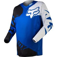 Fox Racing 180 Race Men S Off Road Motorcycle Jerseys Blue Small