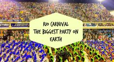 Rio Carnival in Brazil is the biggest party on earth! #travel travelblog #brazil