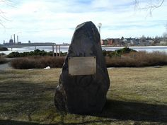 Some memorial rock in Oulu.