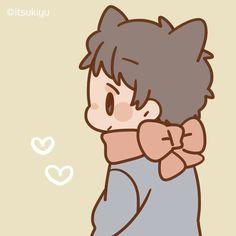 icon kawaii couples, kawaii and anime - chibi couple drawing Chibi Cat, Cute Chibi, Anime Chibi, Chibi Characters, Cute Characters, Cartoon Drawing Tutorial, Cartoon Drawings, Kawaii Art, Kawaii Anime