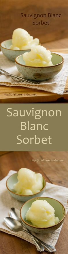 This Sauvignon Blanc Sorbet is just the thing to cool you down. It's light and refreshing. It's filled with flavor but won't weigh you down.