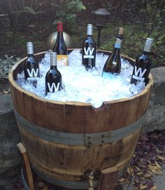 This is an authentic french oak wine barrel from Sonoma and Napa Valley Vineyards in California. We have re-used the wine barrels and cut them in half to make them into the cooler. The inside is lined