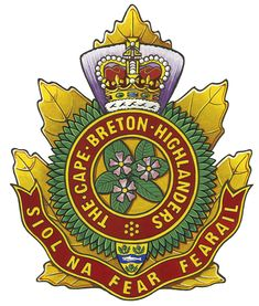 The Cape Breton Highlanders Badge Military Insignia, Military Art, Military Uniforms, Canadian Army, Canadian History, Afghanistan War, Cape Breton, Highlanders, Coat Of Arms