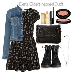 """The Vampire Diaries - Elena Gilbert Inspired Outfit"" by staystronng ❤ liked on Polyvore"