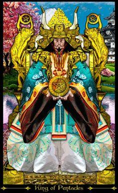 King of Pentacles - Tarot Illuminati, by Erik C.Dunne