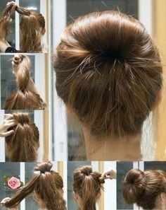 hair tuto moño doble