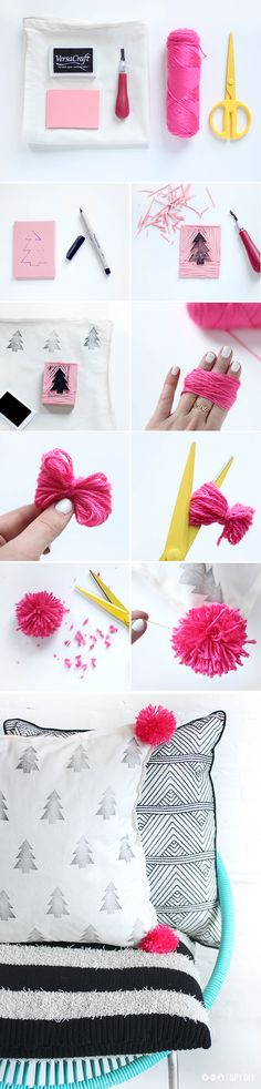 DIY | pom pom pillows | #f21home
