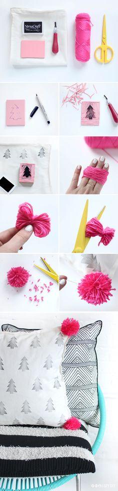DIY | pom pom pillows | #f21home